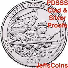 2017 PDSSS George Rogers Clark Quarter US Mint Clad & 90% Silver Proof P D S S S