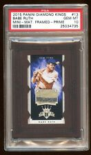 PSA 10 BABE RUTH 2015 PANINI PRIME GAME WORN PATCH JERSEY SWATCH #D /10  POP 1