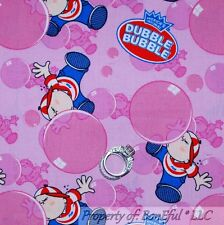 BonEful FABRIC FQ Cotton Pink Blue Birthday Bubble Gum Ball Candy Kid Stripe Dot