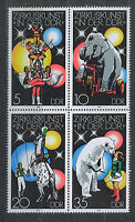 ALEMANIA/RDA EAST GERMANY 1978 MNH SC.1952/55 Circus in GDR