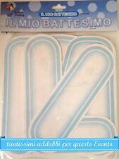 FESTONE BATTESIMO BIMBO Lettere Celeste IL MIO BATTESIMO 4,5 m Addobbi Feste