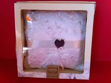 LENOX RING PILLOW OPAL INNOCENCE WHITE WEDDING HEART MARRIAGE FAUX PEARL DESIGN