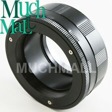 M42 Screw Mount Lens To Micro 4/3 Adapter E-P3 OM-D G6 w Macro Focusing Helicoid