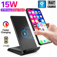 15W Qi Wireless Fast Charger Charging Dock Station For iPhone 11 12 Pro Max X XS