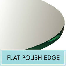 """48"""" Inch Clear Tempered Round Glass Table Top 1/4"""" thick - Flat polish edge"""