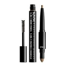 NYX 3-In-1 Brow Pencil - Taupe Augenbrau Stift , Puder & mascara in Einem