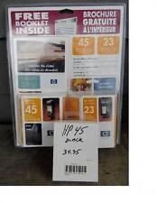 NEW HP 45 & 23 INKJET PRINT CARTRIDGE w/ hp45 black cartridge