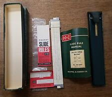 K & E 4081-3 Log Log Duplex Decitrig Slide Rule 1947 Keuffel & Esser Box Manual