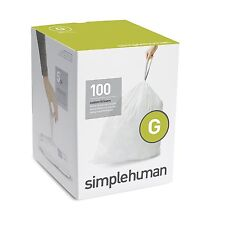 Simplehuman code/size G (30 litres) bin liner, CW0237 (Box of 100)