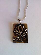 Judeo-Christian Garden Of Eden Sterling Silver Necklace