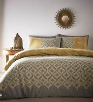 Ochre Duvet Cover Bedding Bed Set Ethnic Indian Moroccan Grey