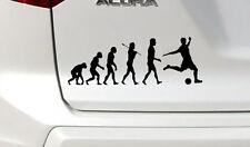 Evoluzione del Calcio, Auto, Furgone, PANNELLO PORTELLONE POSTERIORE/Adesivo/Adesivo scegli un colore.