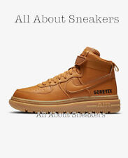 """Nike Air Force 1 GTX """"Flax/Wheat/Gum Lig"""" Men's Trainers Limited Stock All Sizes"""