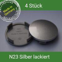 N 23  silber lackiert Nabenkappen  Felgendeckel 60 mm Rial Alutec  4 St.