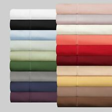 Cozy Bedding Item Extra Deep Pocket Egyptian Cotton US Full XL Size Solid Colors