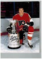 Gary Dornhoefer Philadelphia Flyers Signed Photo PROOF   8X10 stanley cup champs