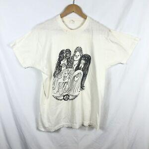 FRUIT OF THE LOOM T mit Lagerspuren unbenutzt Shirt,hellblau mit Musiknoten