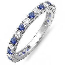 10K White Gold Diamond Eternity Sizeable Stackable Ring Wedding Band (Size 9)