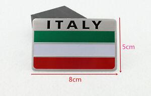 Italy Italian 3D Metal Car Truck Front Side Bumper Sticker Emblems Badge Decal