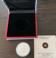 """2013 Canada .999 Silver $15 """"Year of the Snake """" Coin"""