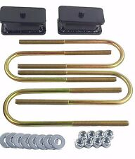 "Ranger Lift Kit Rear 2"" Fabricated Steel Blocks & U Bolts 1998-2011 Ford 4x4 4x2"