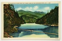 Postcard Adirondack Mountains NY Mt. McIntyre From Flowed Lands Lake View Linen