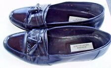 Pierre Cardin 8D Hand Crafted In Italy Black Tassel Dress Loafers