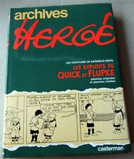 TINTIN HERGE ARCHIVES HERGE QUICK ET FLUPKE 1978 DEDICACE PAR HERGE TBE
