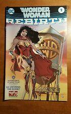 WONDER WOMAN Rebirth #1 DC Comics/Warner Bros WATER TOWER Variant Book 75th