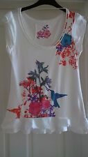 Primark Denim Co Ladies T Shirt, Floral, Stretch, size 10, 100% Cotton, NEW