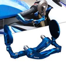 "CNC Protector Mirror 22mm 7/8"" Bar End Brake Clutch Levers Altron Guard Blue US"