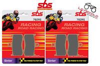 4 PASTIGLIE FRENO ANTERIORI SBS 782 RS RACE SINTER TRIUMPH TIGER SPORT 1050 13
