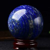 1pc Natural Blue Lapis Lazuli Crystal Ball Healing Sphere Gemstone  + Stand h h
