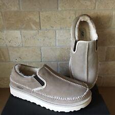 UGG Neumel White Pepper Suede Sheepskin Slip-on Stitch Slippers Shoes Size 8 Men