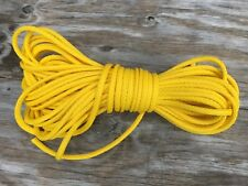 """5/16"""" 200 ft. of hollow braid Polypropylene rope. Yellow. Made in USA"""