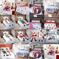 Father Christmas Santa Pug Xmas Duvet Cover & Pillow Cases Single Double King
