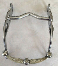 """exceptionally beautiful New hand engraved silver show bit 5/"""" mouth"""