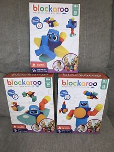 Blockaroo Magnetic Foam Builders Boat Airplane Robot Lot STEM Toy Early Learning