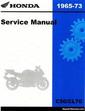 1965-1973 Honda C50 C50M CL70 CD70 C65 C65M C70 S50 S65 C70M Service Manual -...