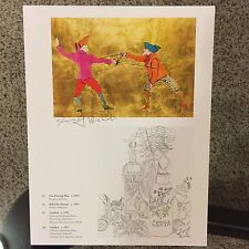 Andy Warhol, signed print, Two Fencing Men - Stull-Life, 1986 - COA