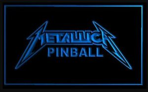 Metallica Pinball Game Backglass LED Sign Light Topper