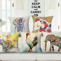 Animals Case Decorative Pillow Watercolor Cover 18'' Cushion Painting Throw Ink
