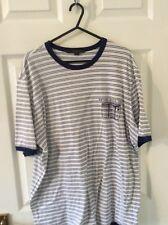 Louis Vuitton Pinstripe tronco Camiseta *** 100% Auténtico