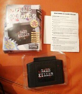 Boxed N64 Nintendo 64 game killer ultimate cheat code cartridge Adaptor DATEL