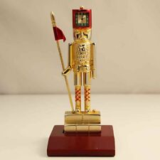 Bulova Miniature Clock Toy Soldier B0417 Brass Collectible