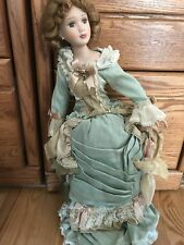 Vintage Green Fancy Dress Doll Umbrella Made in China