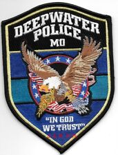 """*NEW*  Deepwater, MO """"In God We Trust""""  (4"""" x 5.5"""") shoulder police patch (fire)"""