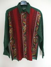 Chemise SOULEIADO made in France manches longues Provence Camargue rouge vert 3