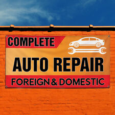 Vinyl Banner Sign Complete Auto Repair Foreign & Domestic #1 Automotive Red