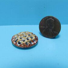Dollhouse Miniature Whole Bake Blueberry Pie ~ CAR0877